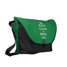 Keep Calm and Nerd On Courier Bag