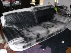 Diy Dye An Old Leather Couch Instructions