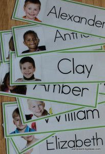 Adding your kids' names and pictures to your word wall is a great way to create interest. Make name cards for your classroom word wall with the free template. Directions are included in the article. These would be great for a preschool, pre-k, kindergarten, early childhood classroom. They can also be used for other name activities and labeling cubbies etc. throughout your classroom. Kindergarten Names, Preschool Names, Preschool Literacy, Kindergarten Classroom, Literacy Activities, Preschool Cubbies, Preschool Attendance Ideas, Preschool Sign In Ideas, Kindergarten Job Chart