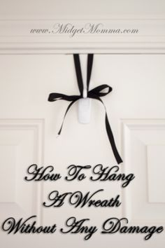 How To Hang A Wreath Without Any Damage - perfect for hanging holiday wreaths Holiday Wreaths, Christmas Decorations, Holiday Decor, All Things Christmas, Christmas Time, Wreath Crafts, Diy Crafts, Outdoor Wreaths, Wreath Hanger