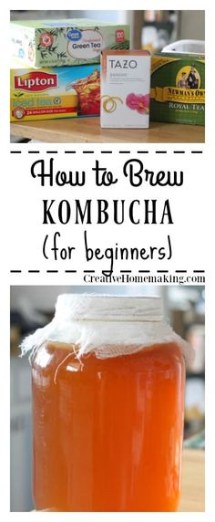 to Brew Kombucha (Step by Step for Beginners) Brew your own kombucha at home! Easy kombucha recipe for beginners.Brew your own kombucha at home! Easy kombucha recipe for beginners. How To Brew Kombucha, Kombucha Tea, Kombucha Brewing, Making Kombucha, Make Your Own Kombucha, Kombucha Cocktail, Kombucha Flavors, Recipes, Healthy Recipes