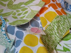 hand-stamped fabric
