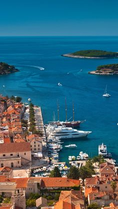 Hvar Island, Adriatic Sea, Croatia #hvar#island#croatia#adriaticsea#beautiful#beach#town