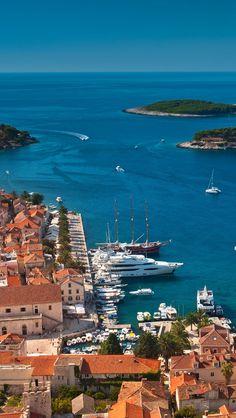 Hvar Island, Adriatic Sea, Croatia #hvar#island#croatia#adriaticsea#beautiful#beach#town