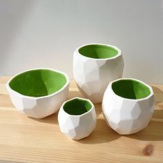 Modern ceramic cup handmade in polygons Poligon by studioLORIER, €15.50