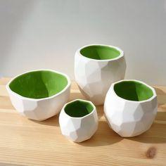 Modern ceramic cup handmade in polygons Poligon by studioLORIER, €15.50