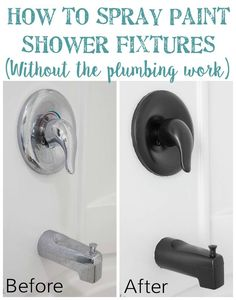 How to Spray Paint Shower Fixtures (without the plumbing work) | Bless'er House