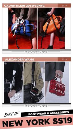 #nyfw #2018 #ss19 #bestof #womens #footwear #shoes #handbags #trends #fashion #accessories #fashiondirections #alexanderwang #calvinklein