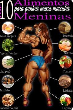 Chega de comer sempre a mesma coisa para #ganhar #massa Fitness Diet, Health Fitness, Gym Food, Body Motivation, Better Life, Workout Videos, Lose Weight, Personal Trainer, Academia
