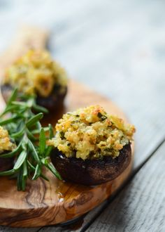 Shrimp Stuffed Portobello Mushrooms
