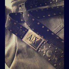 Armani Exchange Belt . Studded black Armani belt. Black, worn once!! Price is negotiable Armani Exchange Accessories Belts