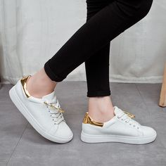 Find More Women's Casual Shoes Information about 2016 New Arrival Women White Casual Shoes Lace Up Spring Autumn Flat With Breathable Height Increasing Women's Casual Shoes ,High Quality arrival shirt,China arrival meaning Suppliers, Cheap arrival status from YiQi Trading Co. ,Ltd. on Aliexpress.com
