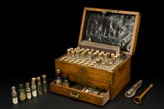 Homeopathic medicine chest, London, England, 1880-1920