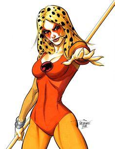 Drawing Superhero Cheetara by Scott Dalrymple Cartoon Cartoon, Cartoon Characters, Fantasy Characters, Old School Cartoons, 90s Cartoons, Thundercats Logo, Comic Art, Comic Books, Mundo Comic