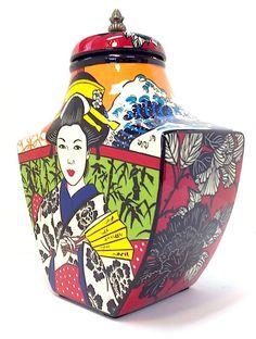 GEISHA GINGER JAR BY Lisa Dirie Contemporary Ceramics - ART101 Art Gallery & Framing