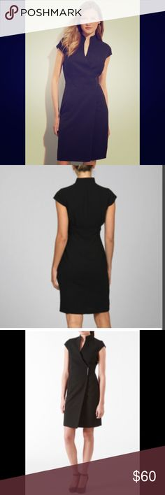 Calvin Klein Women's Sleeveless Wrap Dress NWOT - this dress is so simplistically perfect and flattering, not to mention classy for both work and dinner dates, etc. Also in great condition. I love the V neck line and the side clasp makes the dress feel both secure and comfortable. I usually wear a size 4 and this dress is a 6 so it is slightly big on me. I would say it fits true to form so if you wear a size 6 normally, this will be perfect. Very elegant in general, but the capped sleeves…