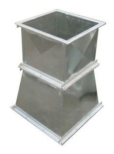 TRANSICION EN ACERO GALVANIZADO  Fabricado en acero galvanizado calibre 20 con angulos en hierro de 1 in