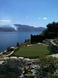 SYNLawn putting green mixed with Mother Nature = Pure beauty and bliss! Don't you agree? Amazing green done by our SYNLawn Okanagan friends! Let's make your yard a place you can call your true paradise! Call SYNLawn LA @ 866-739-LAWN (5296) and you'll be halfway there! You can also check out our website at www.discountartificialgrass.com