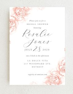 The Rose Border Bridal Shower Invitations are elegantly designed with romantic botanicals against a white background. Choose from more than 160 color options, over 100 distinctive fonts, and editable text to transform your chosen template into the invitation of your dreams. #roseweddingshowerinvitations #elegantbridalshowerinvites #floralbridalshowerinvitation Flower Cake Decorations, Bridal Party Invitations, Wedding Trends, Wedding Ideas, Elegant Bridal Shower, Simple Weddings, Colorful Flowers, Summer Wedding, Invite