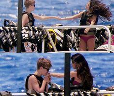 Justin Bieber and Selena Gomez in Hawaii. May 2011 ll #Jelena