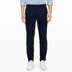 Davis Foulard Printed Chino - Casual Pants Pants at Club Monaco