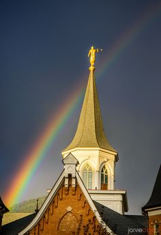 Moroni and The Rainbow - Provo City Center Utah LDS Temple