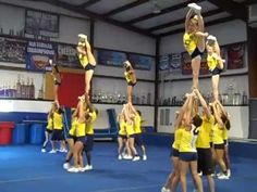 ICE Cheer stunt 2010 worlds routine I think they like spin downs Cheerleading Videos, Cheerleading Quotes, School Cheerleading, Cheer Quotes, Cheer Base, All Star Cheer, Cheer Mom, Cool Cheer Stunts, Cheer Routines