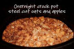 Crockpot Steel Cut Oats with Apples, Brown Sugar and Cinnamon | Steel ...