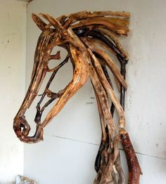 These #driftwood relief sculptures are so beautiful!  They certainly fall into my down home chic aesthetic :) #equine