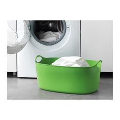 TORKIS Flexible clothes basket, in/outdoor, green Ikea Laundry Basket, Ikea Laundry Room, Laundry Storage, Shed Storage, Ikea Utility Room, Ikea Hejne, Attic Shower, Clothes Basket, Storage Solutions
