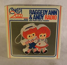 1973 Vintage Raggedy Ann & Andy Radio Am Portable     I had this when I was a little girl!!!!!!!!!