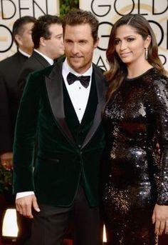 2014 Golden Globes - Red Carpet - Matthew McConaughey and Camila Alves