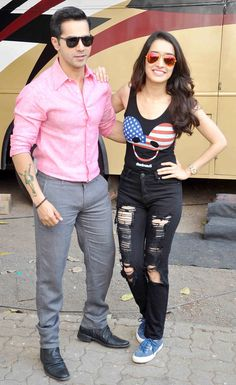 Varun Dhawan and Shraddha Kapoor promoting 'ABCD 2' - #ABCD2. #Bollywood #Fashion #Style #Beauty #Handsome