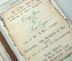 Vintage book Wedding invitation collage of quotes by 0namesleft, $95.00