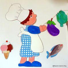 Maestra Caterina: Il cuoco Pasticcione rallegra la porta della sala da pranzo