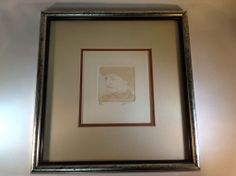 """Vintage Original Color Etching """"The Lady"""" Hand Signed by Bril 4/12 Certificate #Impressionism"""