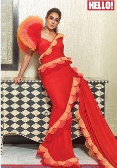 Indian Designer Outfits, Indian Outfits, Designer Dresses, Saree Wearing, Sara Ali Khan, Stylish Sarees, Traditional Sarees, Saree Styles, Saree Blouse Designs