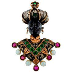 G. Nardi Amazing Gem Encrusted Blackamoor Pin