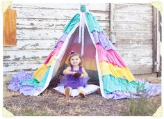 DIY Teepee - Not that I can sew something like this but maybe one day...