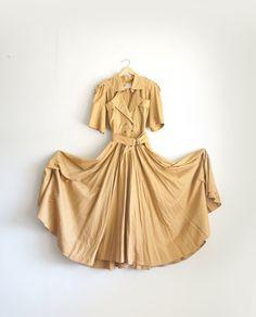 Vintage Safari Dress Full Length by CaprockVintage on Etsy, $68.00