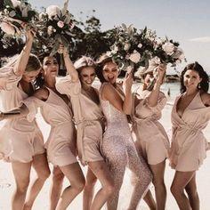An Anna Campbell Bride and her Coachella Festival Inspired Beach Wedding Beach Wedding Bridesmaids, Boho Wedding, Summer Wedding, Bridesmaid Dresses, Wedding Dresses, Anna Campbell Dress, Beach Wedding Inspiration, Wedding Ideas, Wedding Images