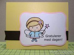 Birthdaycard with fairy by Marie (Legojenta), via Flickr