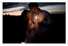 Love the lighting and the sparkler!!