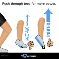 Cheer jump tips: push through toes for more power!