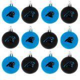 NFL Ball Ornament (Set of 12) NFL Team: Carolina Panthers