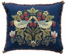 Beth Russell Needlepoint - Strawberry Thief Collection - Strawberry Thief 2…