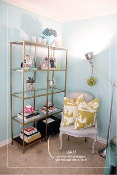 DIY - Ikea Hack - liquid gold leaf on book shelf
