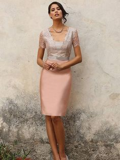 This stunning pink knee-length Linea Raffaelli dress has been beautifully designed with a lace v-neckline and has a beige ribbon style belt design at the waist. Product code FS15 SET 68. View more Mother of the Bride & Groom/Ladies Day/Races dresses from our Linea Raffaelli collection at: http://www.baroqueboutique.co.uk/mother-of-the-bride-south-wales/ Photographs courtesy of: http://www.linearaffaelli.be/en/