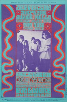 (BG 1966 Jefferson Airplane/Junior Wells Chicago Blues Band / Tim Rose at Fillmore Auditorium. Art by Wes Wilson. Rock Posters, Band Posters, Event Posters, Vintage Concert Posters, Vintage Posters, San Francisco, Wes Wilson, Fillmore Auditorium, Junior Wells