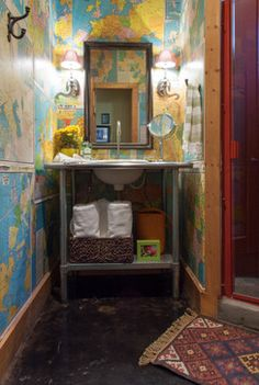 Eclectic Design Ideas, Pictures, Remodel and Decor ---I'd love to do this in the camper.